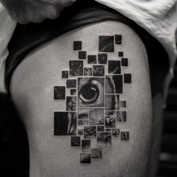 Owl's Eye Segmented Tattoo