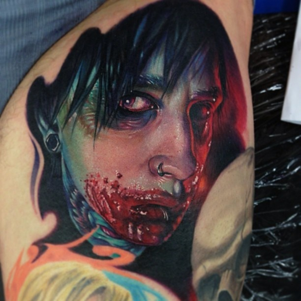 Paul Acker Portrait Tattoo