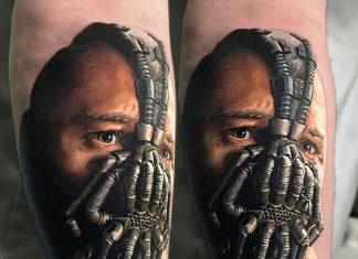 Realistic Bane Arm Tattoo