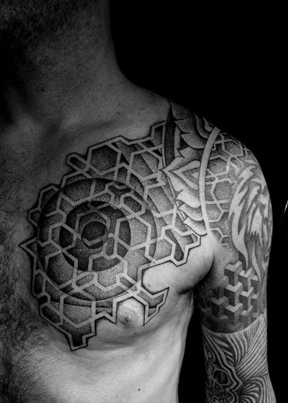 Segmented Blackwork tattoo