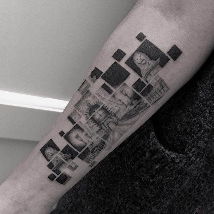 Segmented Bridge Landscape Tattoo
