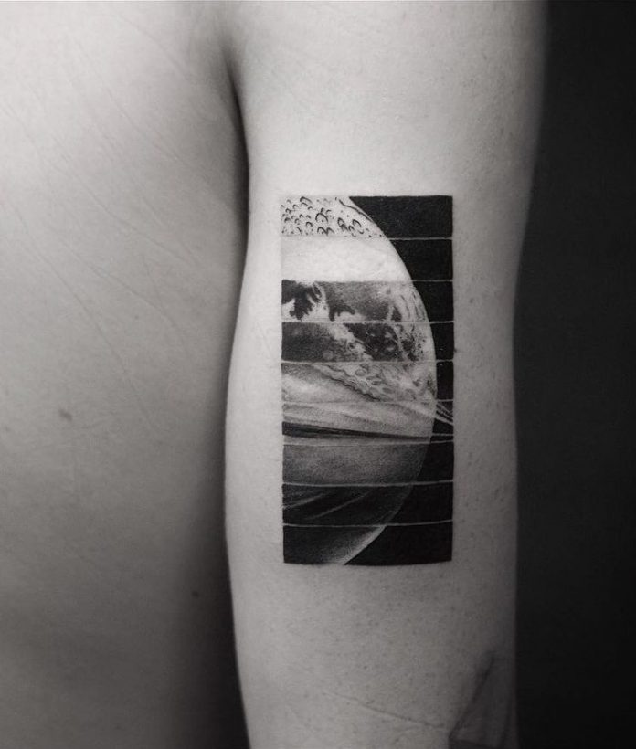 Segmented Planet Arm Tattoo
