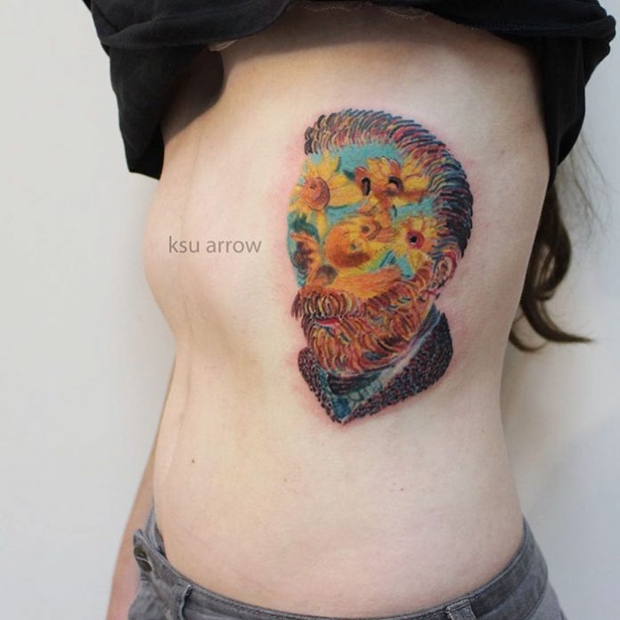 Van Gogh's Sunflower Tattoo