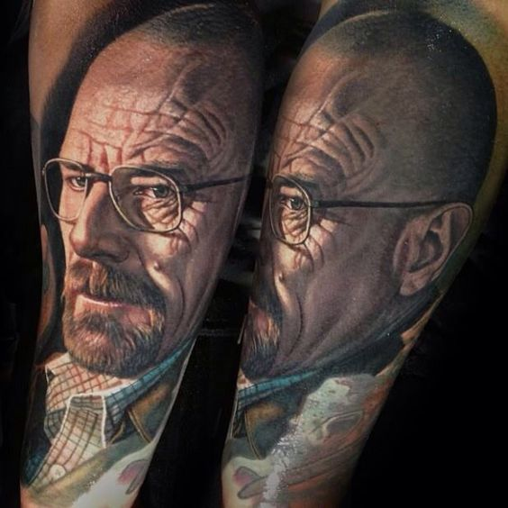 Walter White Portrait Tattoo
