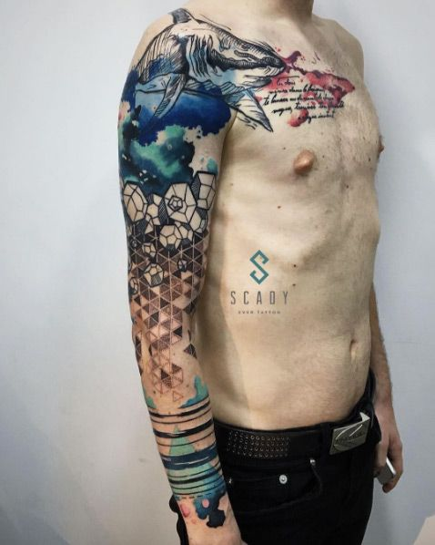Amazing Abstract Sleeve Tattoo