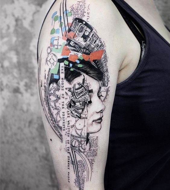 Contemporary Abstract Arm Tattoo