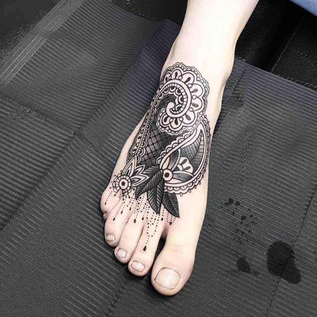 Ornamental Foot Tattoo