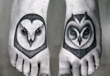 Owl Foot Tattoos