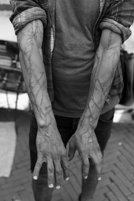 Tree Roots Sleeve Tattoo