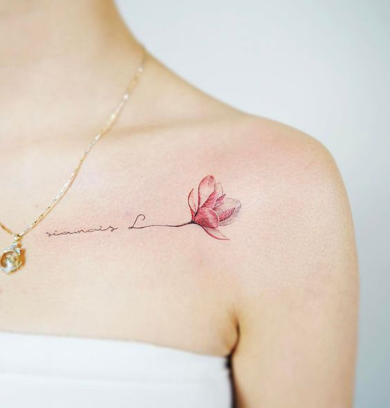 Chic Magnolia Tattoo