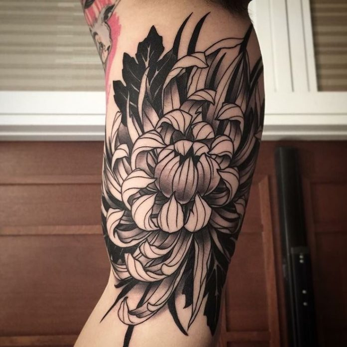 Chrysanthemum Arm Tattoo