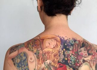 Art History Inspired Back Tattoo