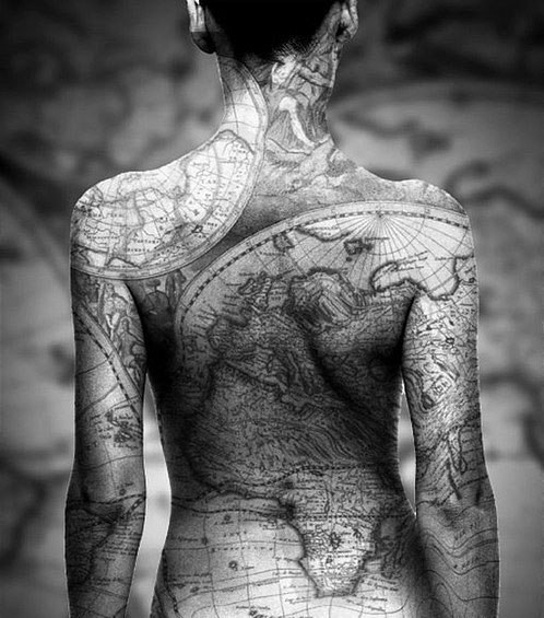 Breathtaking World Body Tattoo