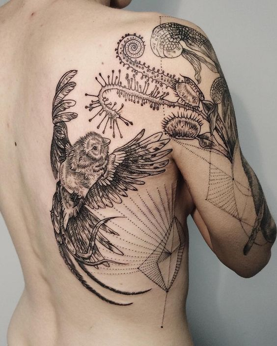 Detailed Natured Themed Tattoo