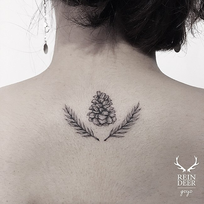 30 Lovely Nape Tattoos For Girls: 30 Pine Cone Tattoo Designs