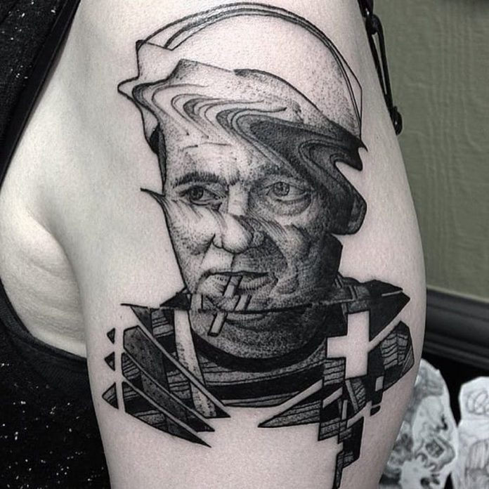Bill Murray Glitch Tattoo