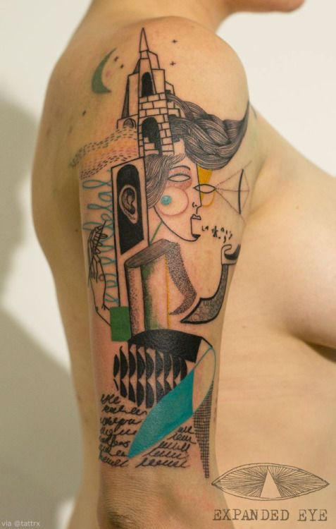 Contemporary Graphic Arm Tattoo