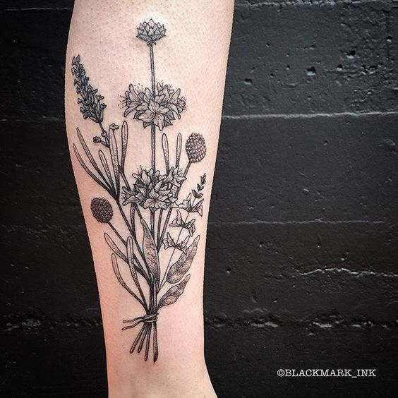 1501e104ddf8b 30 Absolutely Gorgeous Wildflower Tattoos Amazing Tattoo Ideas