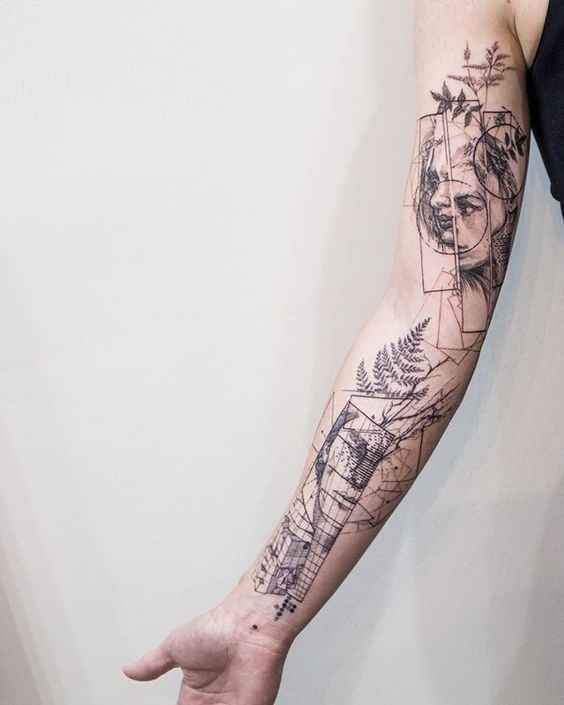 Graphic Style Abstract Tattoo