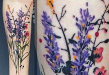 Vibrant Wildflower Forearm Tattoo