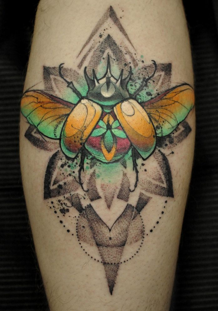 Gorgeous Beetle Arm Tattoo