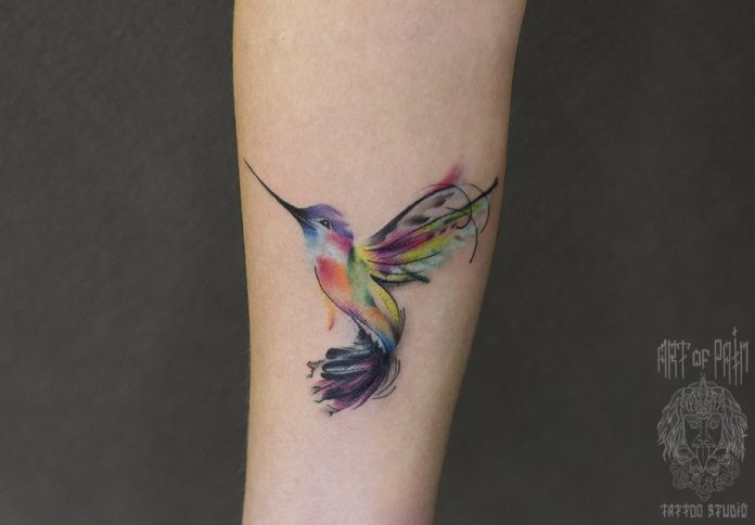 Gorgeous Hummingbird Forearm Tattoo