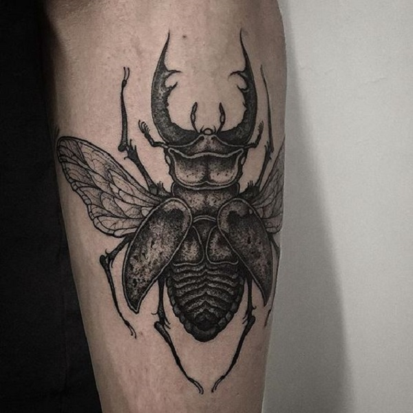 Mythological Beetle Tattoo