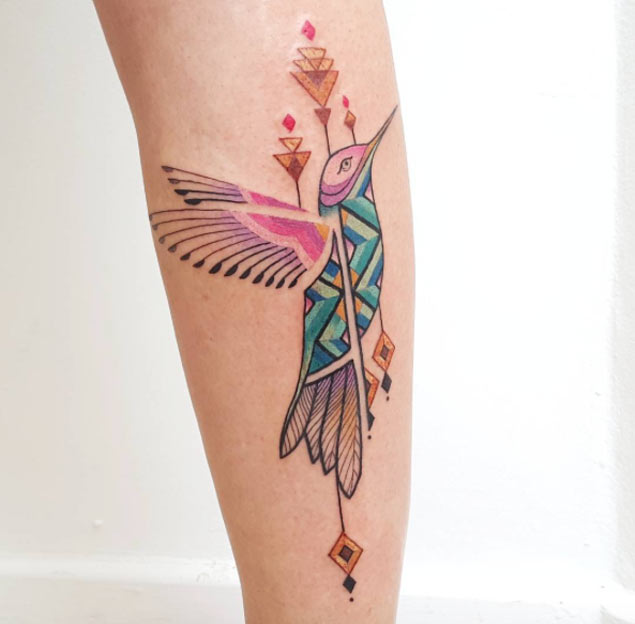 Segmented Hummingbird Tattoo
