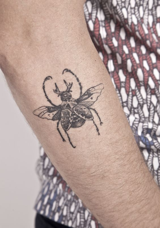 Steampunk Beetle Tattoo