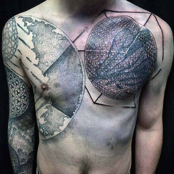Abstract Geometric Shapes Tattoo