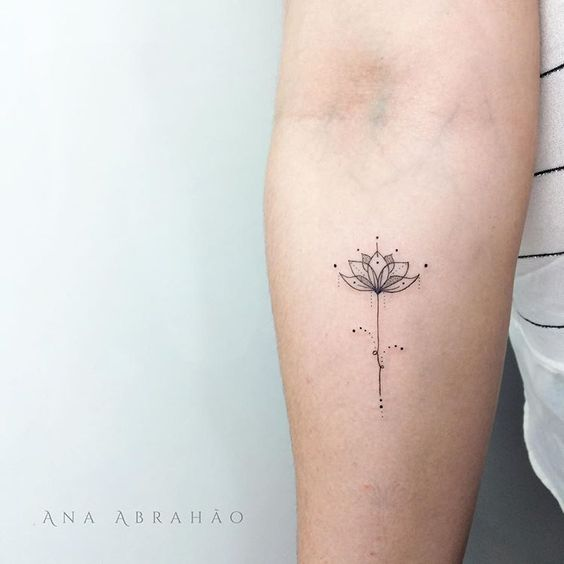 Flower Geometry Forearm Tattoo