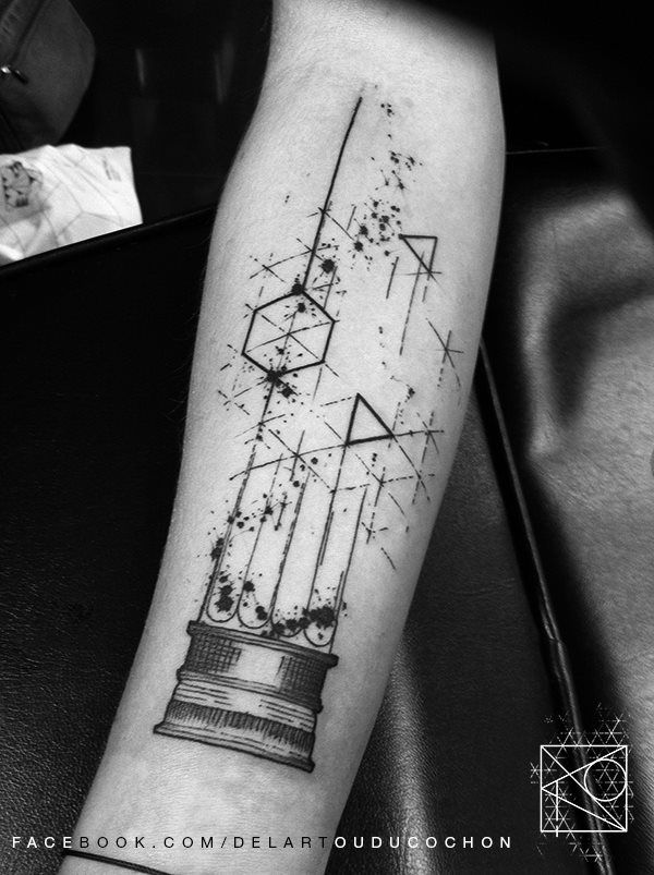Graphic Art Forearm Tattoo