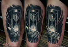 Hourglass And The Sands Of Time Tattoo