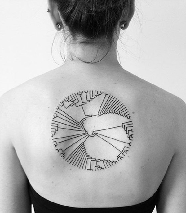 Intricate Geometry Back Tattoo