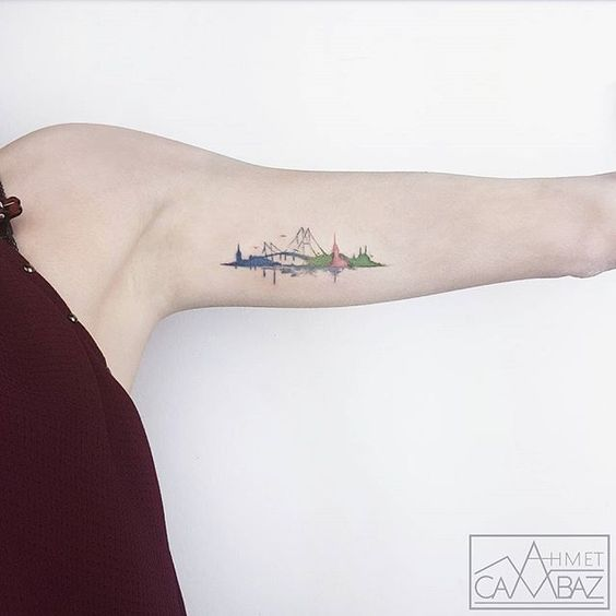 Landscape Arm Tattoo