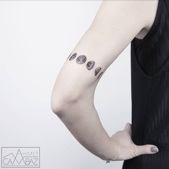 Moon Phases Armband Tattoo