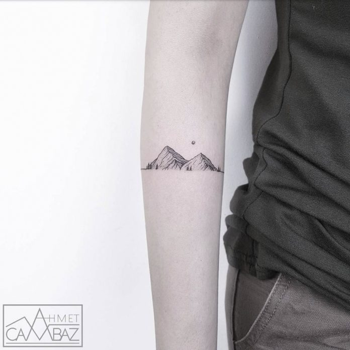 Mountain Range Forearm Tattoo