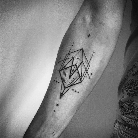 Unique Geometry Forearm Tattoo