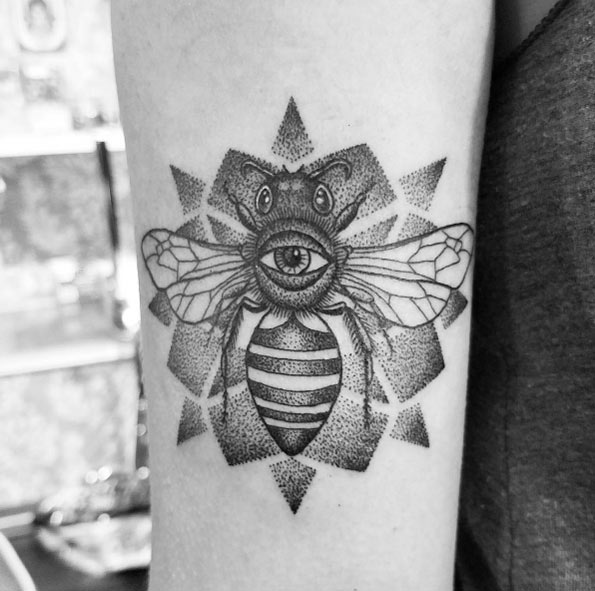 All Seeing Eye Bee Tattoo