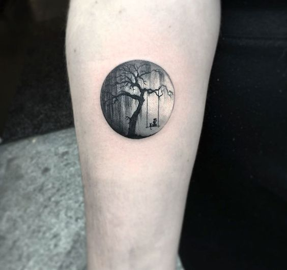 Animals On A Swing Forearm Tattoo
