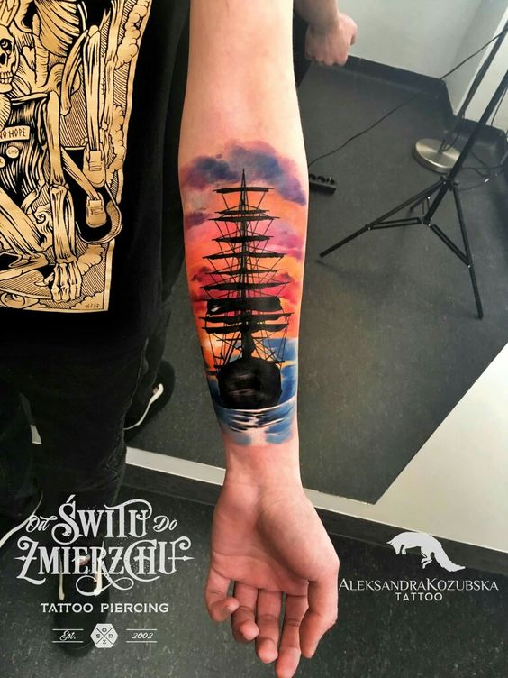 bd5d31644 30 Exciting Boat Tattoos | Amazing Tattoo Ideas