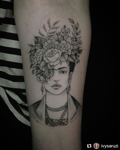 Frida Kahlo Forearm Tattoo