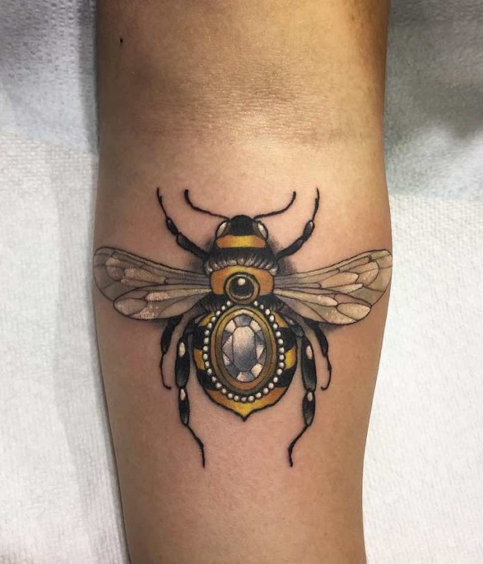 Jeweled Bee Tattoo