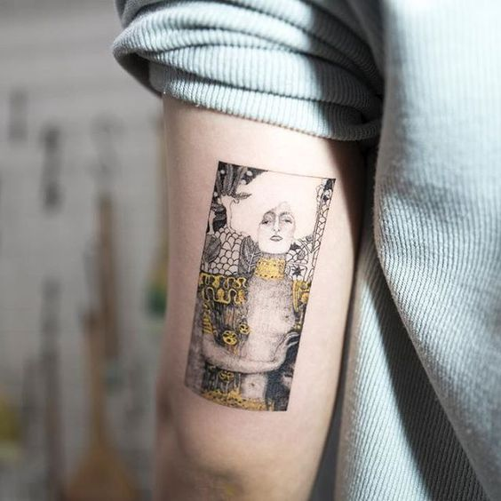 Klimt's Judith I Arm Tattoo