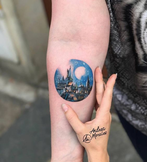 Microrealism Harry Potter Inspired Tattoo
