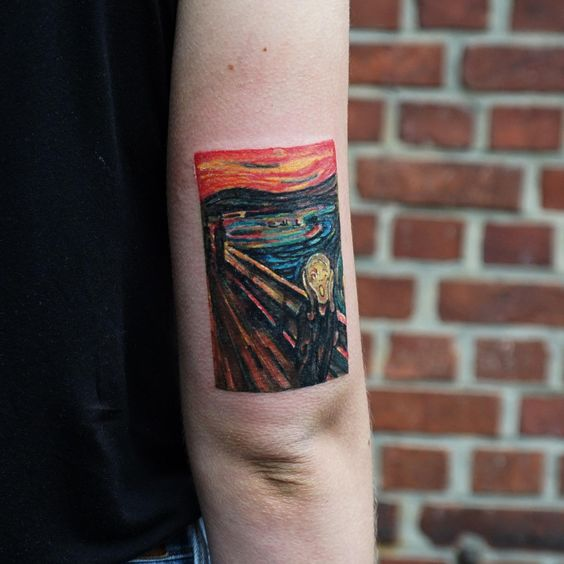 Munch's Scream Arm Tattoo