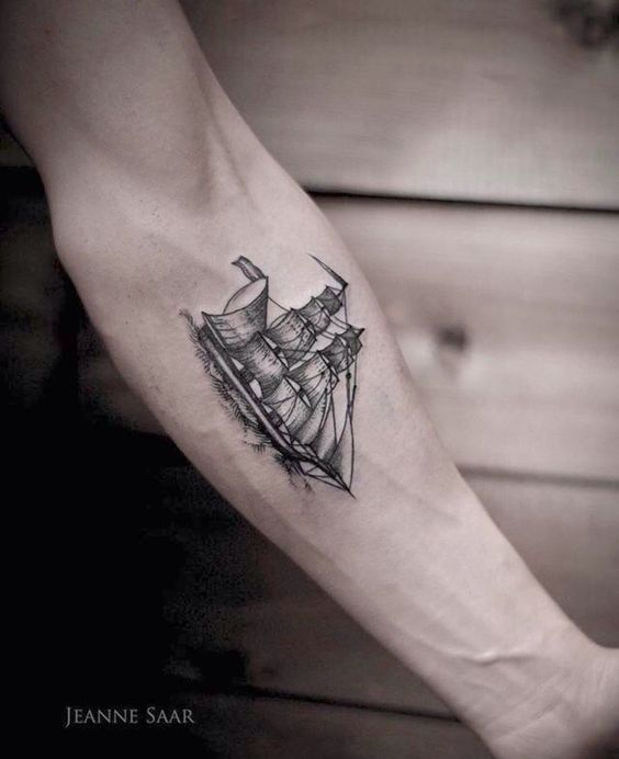 e04b5e65c Sailing Ship Forearm Tattoo | Amazing Tattoo Ideas
