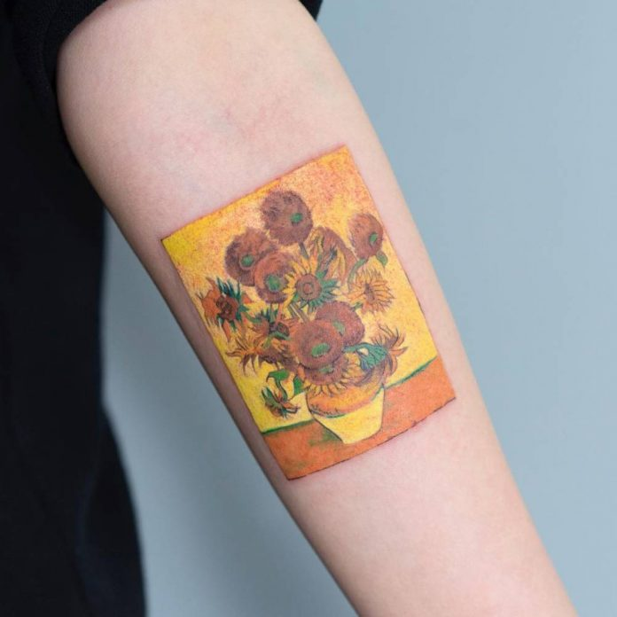 Sunflower Series Forearm Tattoo