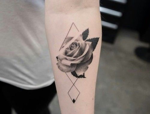 3D Rose Forearm Tattoo
