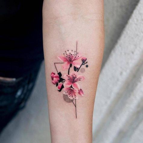 Cherry Blossoms Forearm Tattoo